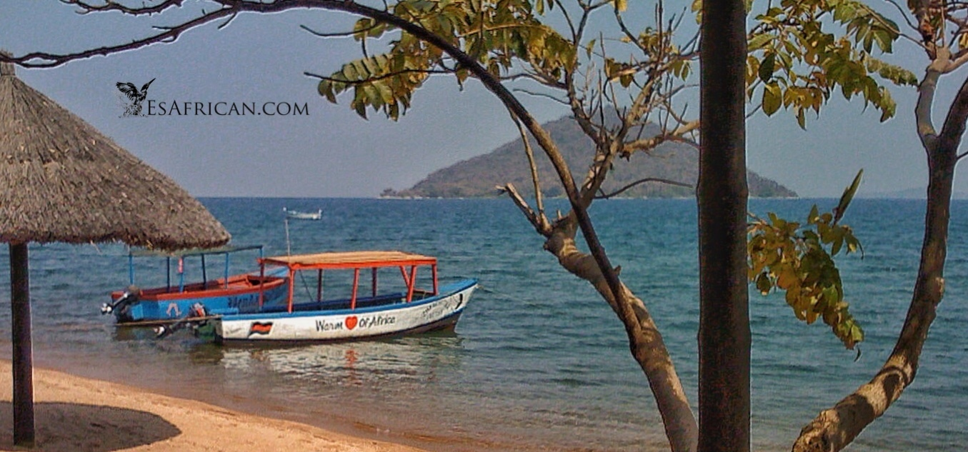 The view from Fat Monkey's at Cape Maclear. The ideal environment for contemplating Chichewa