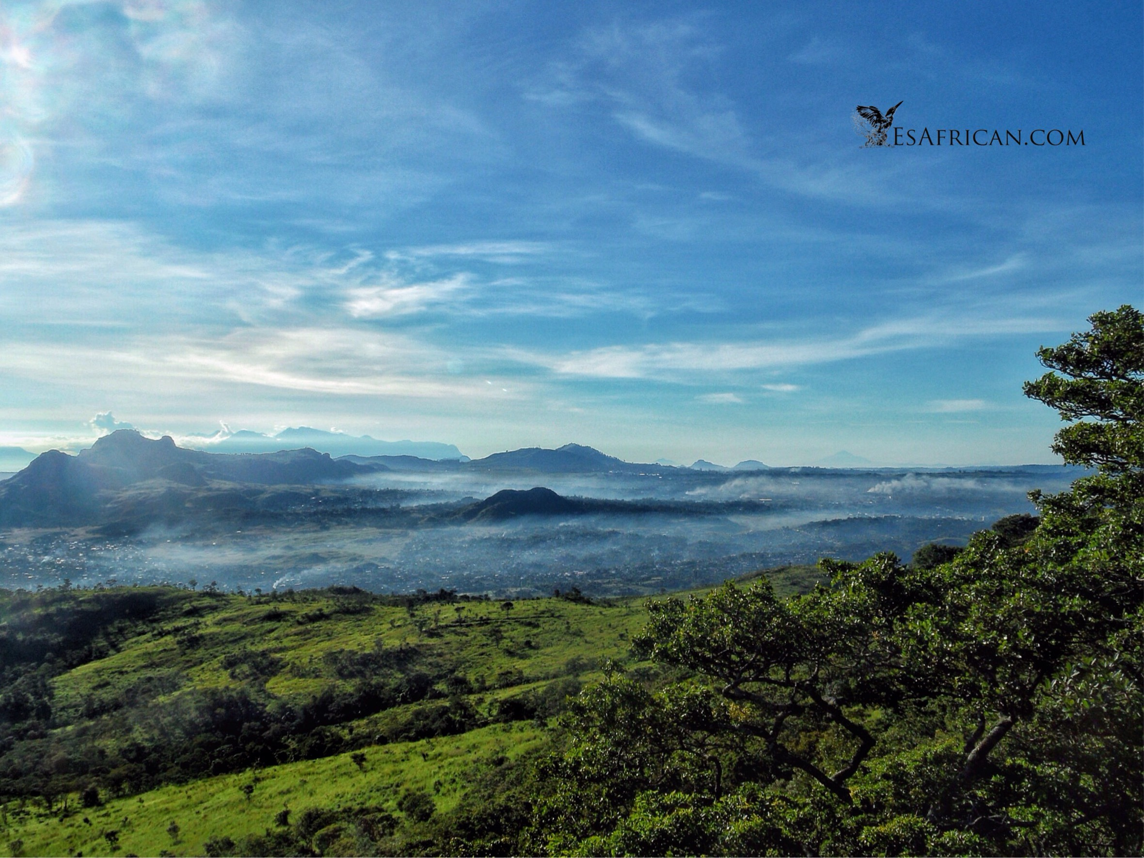 The early morning mist over lantyre from Michitu Mountain. The beginning of yet another stunningly beautiful and pleasantly warm day.